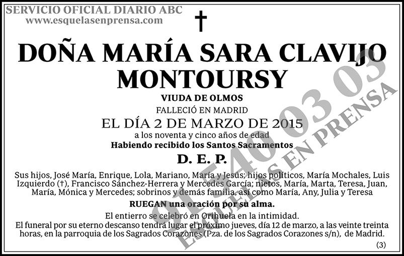 María Sara Clavijo Montoursy